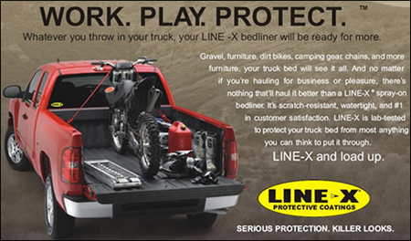 LINE-X Spray-On Truck Bed Liners, 